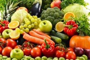 Gemüse und Obst Proteine