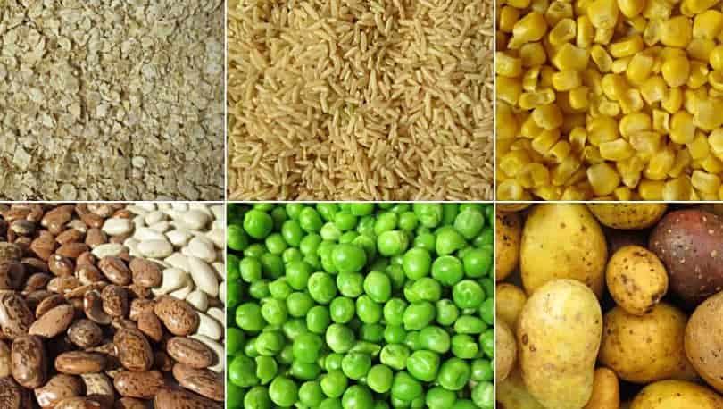 Getreide, Bohnen und Hülsenfrüchte