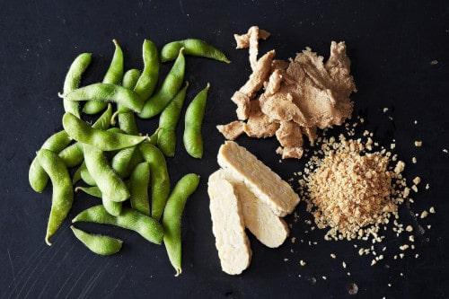 Tofu, Tempeh und Edamame