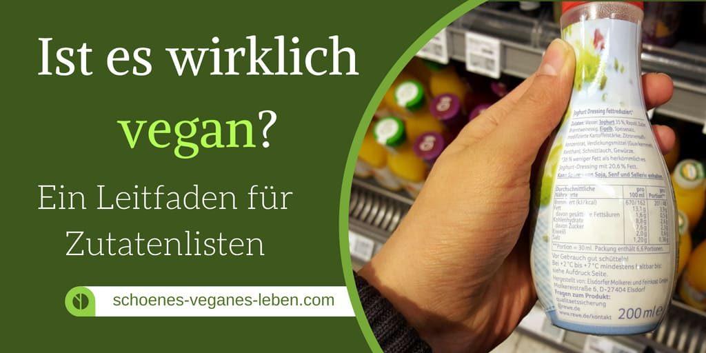 ist es wirklich vegan