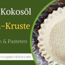 Vegane Kokosnussöl Kuchen Kruste