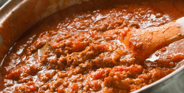 vegane bolognese im topf