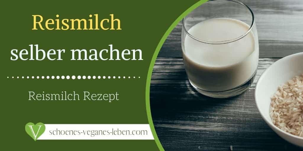 Reismilch selber machen - Reismilch mit diesem Rezept herstellen