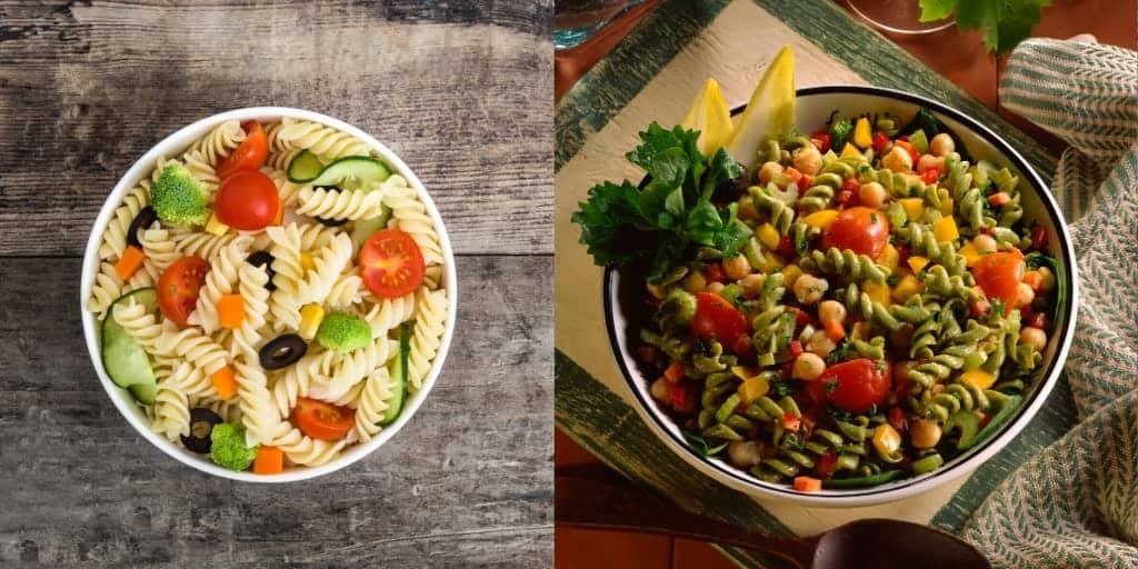 Zutaten für den veganen Nudelsalat