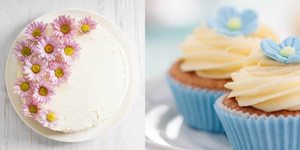 vegane buttercreme auf cupcakes und torte