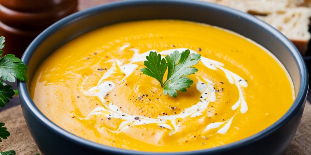 vegane Kürbis-creme-suppe