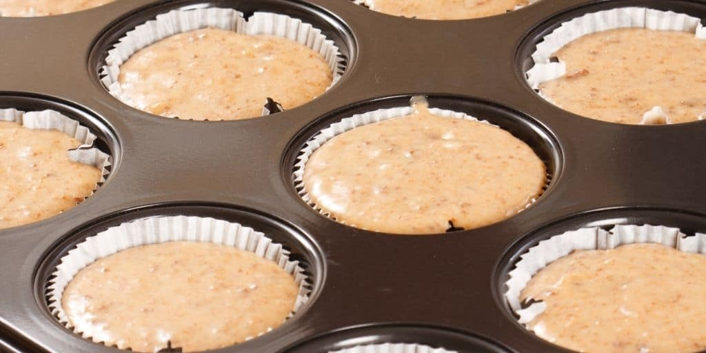 vegane cupcakes in formen