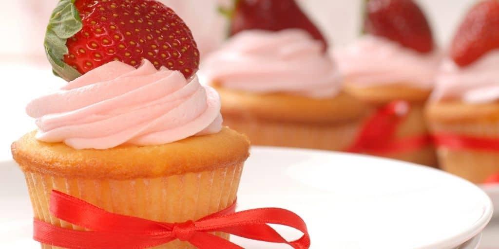 vegane cupcakes mit erdebeeren